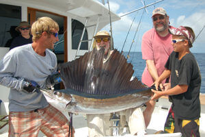 Catching and releasing a beautiful Cape Hatteras sailfish is every angler's dream come true.