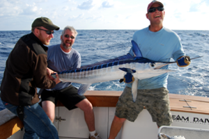 The excitement of catching and releasing a white marlin off Hatteras.