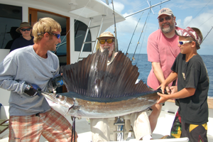 Catching and releasing a beautiful sailfish is every angler's drea.